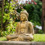 Wanda Collection Statue Bouddha assis position offrande doré 42 cm Sublimez... par LeGuide.com Publicité