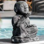Wanda Collection Statue de jardin moine Shaolin heureux patiné gris 40... par LeGuide.com Publicité