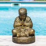 Wanda Collection Statue moine shaolin assis doré 40 cm Illuminez votre... par LeGuide.com Publicité