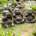 Wanda Collection Statues de Bouddha sagesse patiné brun antique 40 cm... par LeGuide.com Publicité