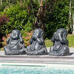 Wanda Collection Statues de Bouddha sagesse patiné gris 40 cm Très joli... par LeGuide.com Publicité