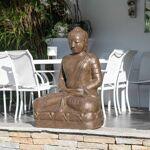 Wanda Collection Statue jardin Bouddha assis en fibre position offrande... par LeGuide.com Publicité