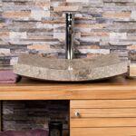 Wanda Collection Grande Vasque grise 50cm à poser rectangle en marbre... par LeGuide.com Publicité