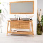 Wanda Collection Meuble en teck de salle de bain SCANDINAVE 140 Pratique... par LeGuide.com Publicité