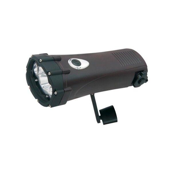 Powerplus Lampe torche dynamo étanche chargeur Shark