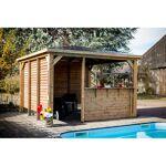 habrita  HABRITA Pool House BLUETERM Structure en bois 2 parois avec ventelles... par LeGuide.com Publicité
