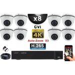 Europ Camera KIT PRO CVI 8 Caméras Dômes AUTOZOOM X3 IR 35m 8MP UHD 4K... par LeGuide.com Publicité