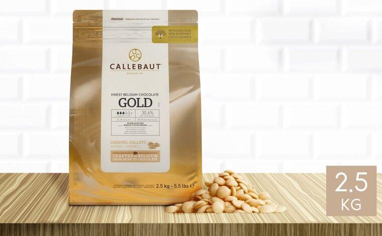 Callebaut Chocolat Gold 30,4 % pistoles - sachet 2,5 kg