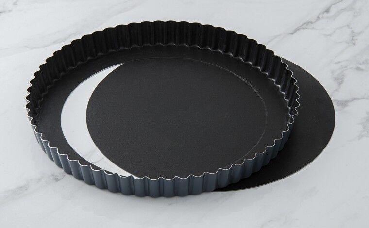 Matfer Bourgeat Tourtière cannelée Exopan fond mobile - Diamètre 24 cm