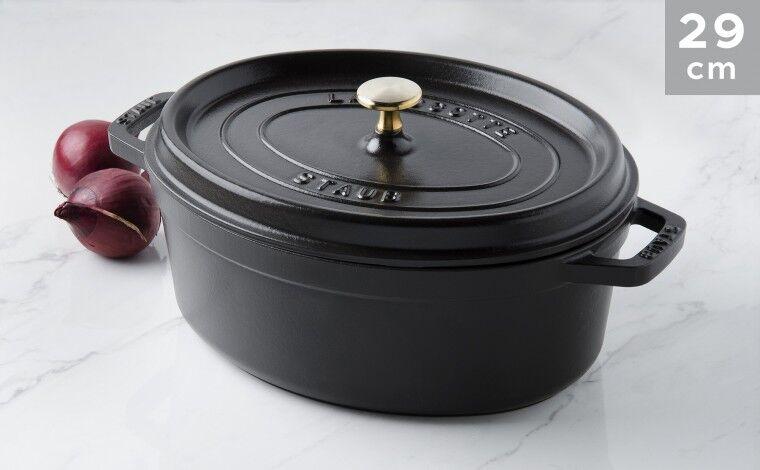 Staub Cocotte ovale fonte noire 29 cm