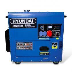 Hyundai groupe electrogene diesel 6500 w - triphasé hdg6500t
