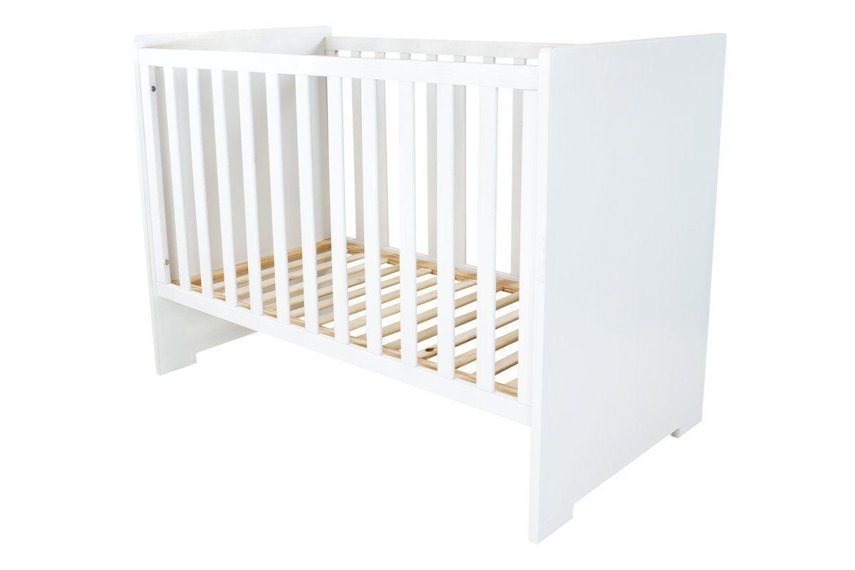 Abc meubles - lit bébé floride blanc
