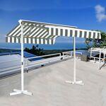 Stores double pente sur pied avec coffre - Blanc Gris - 3,5 x 3 m Stores... par LeGuide.com Publicité