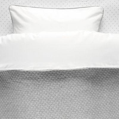 Housse de couette et taie gris clairTricoloudoux (100 x 140 cm)