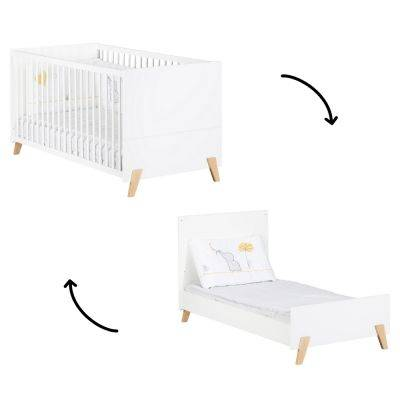 Lit bébé évolutif Little Big Bed Joy naturel (70 x 140 cm)
