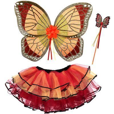 Set de déguisement fée papillon rouge