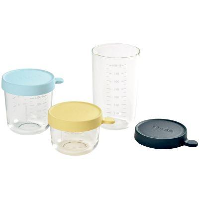 Lot de 3 pots de conservation en verre