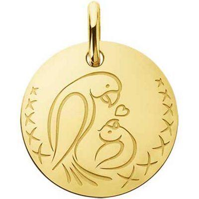 Médaille bébé oiseau Love Bird (or jaune 750°)