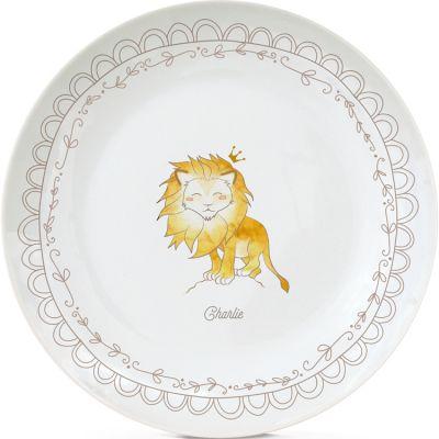 Assiette en porcelaine Lion (personnalisable)