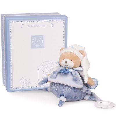 Coffret peluche musicale Petit chou bleu clair (17 cm)
