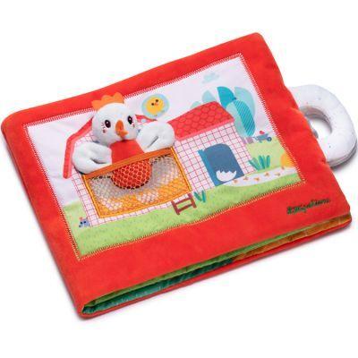 Livre bébé en tissu Paulette la poule cherche ses poussins