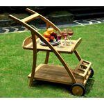 Wood-en-stock desserte sur roues avec plateau de service en teck brut... par LeGuide.com Publicité