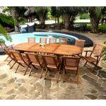 Wood-en-stock ensemble de jardin en teck 12 places - table 200.300 cm... par LeGuide.com Publicité