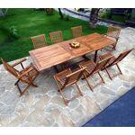 Wood-en-stock salon de jardin en teck huilé 8 à 10 places - chaises et... par LeGuide.com Publicité