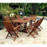 Wood-en-stock Salon en teck huilé 8 places - table à rallonge 120 à... par LeGuide.com Publicité