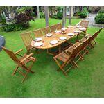 Wood-en-stock Salon en teck huilé XXL 12 places - table 200-250-300 cm... par LeGuide.com Publicité