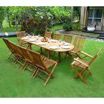 Wood-en-stock Salon de jardin en teck - ensemble pour 10 personnes -... par LeGuide.com Publicité