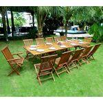 Wood-en-stock Salon de jardin en teck grande taille - table 300 cm Salon... par LeGuide.com Publicité