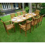 Wood-en-stock Salon de jardin en teck 8 fauteuils de jardin en teck empilables... par LeGuide.com Publicité