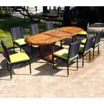 Wood-en-stock ensemble de jardin table en teck et chaises en résine tressée... par LeGuide.com Publicité