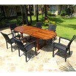 Wood-en-stock salon de jardin en teck huilé table 240 cm 6 fauteuils... par LeGuide.com Publicité
