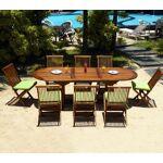 Wood-en-stock ensemble salon de jardin en teck huile 8 places + coussins... par LeGuide.com Publicité