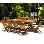 Wood-en-stock ensemble 10 places salon de jardin en teck huilé table... par LeGuide.com Publicité