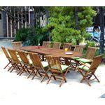Wood-en-stock ensemble de jardin table 200-300 cm 12 places teck huilé... par LeGuide.com Publicité