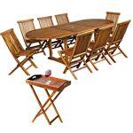 Wood-en-stock salon de jardin en teck huilé pour 8 personnes + desserte... par LeGuide.com Publicité