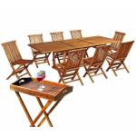 Wood-en-stock salon de jardin en teck huilé pour 8 personnes avec desserte... par LeGuide.com Publicité