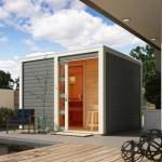 karibu  Karibu Sauna extérieur Cuben bois laqué gris avec vestibule 5 à... par LeGuide.com Publicité