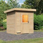 WoodFeeling Sauna d'extérieur JANA en bois massif 38mm 4 à 5 places... par LeGuide.com Publicité
