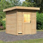 WoodFeeling Sauna d'extérieur TAINA en bois massif 38mm 5 à 6 places... par LeGuide.com Publicité
