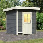 WoodFeeling Sauna d'extérieur TAINA en bois laqué gris 38mm 5 à... par LeGuide.com Publicité