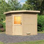 WoodFeeling Sauna extérieur d'angle MAYLA en bois massif 38mm 6... par LeGuide.com Publicité