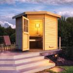 WoodFeeling Sauna extérieur d'angle HILDA en bois massif 38mm 7... par LeGuide.com Publicité