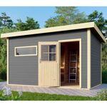 WoodFeeling Sauna extérieur SUVA 3 bois laqué gris avec vestibule 6 à... par LeGuide.com Publicité