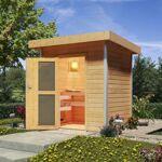 karibu  Karibu Sauna en bois d'extérieur Jorgen - porte verre dépoli... par LeGuide.com Publicité