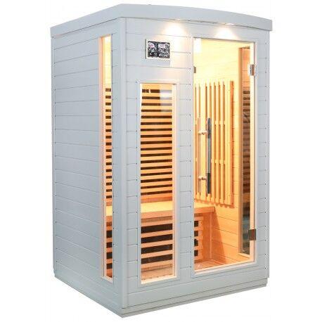 SNÖ Sauna infrarouge blanc panneaux carbone 2050W 2 places SNÖ
