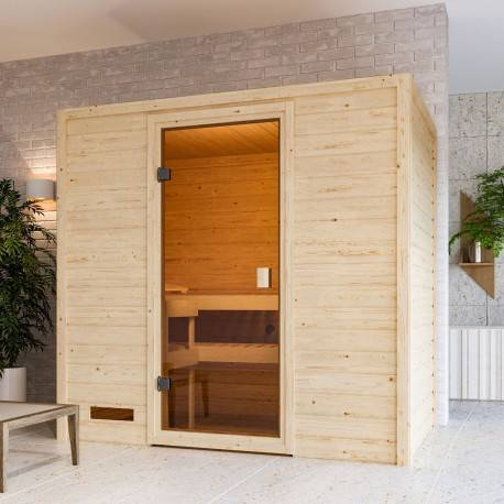 WoodFeeling Sauna traditionnel Selena 2 à 3 places 38mm - Woodfeeling